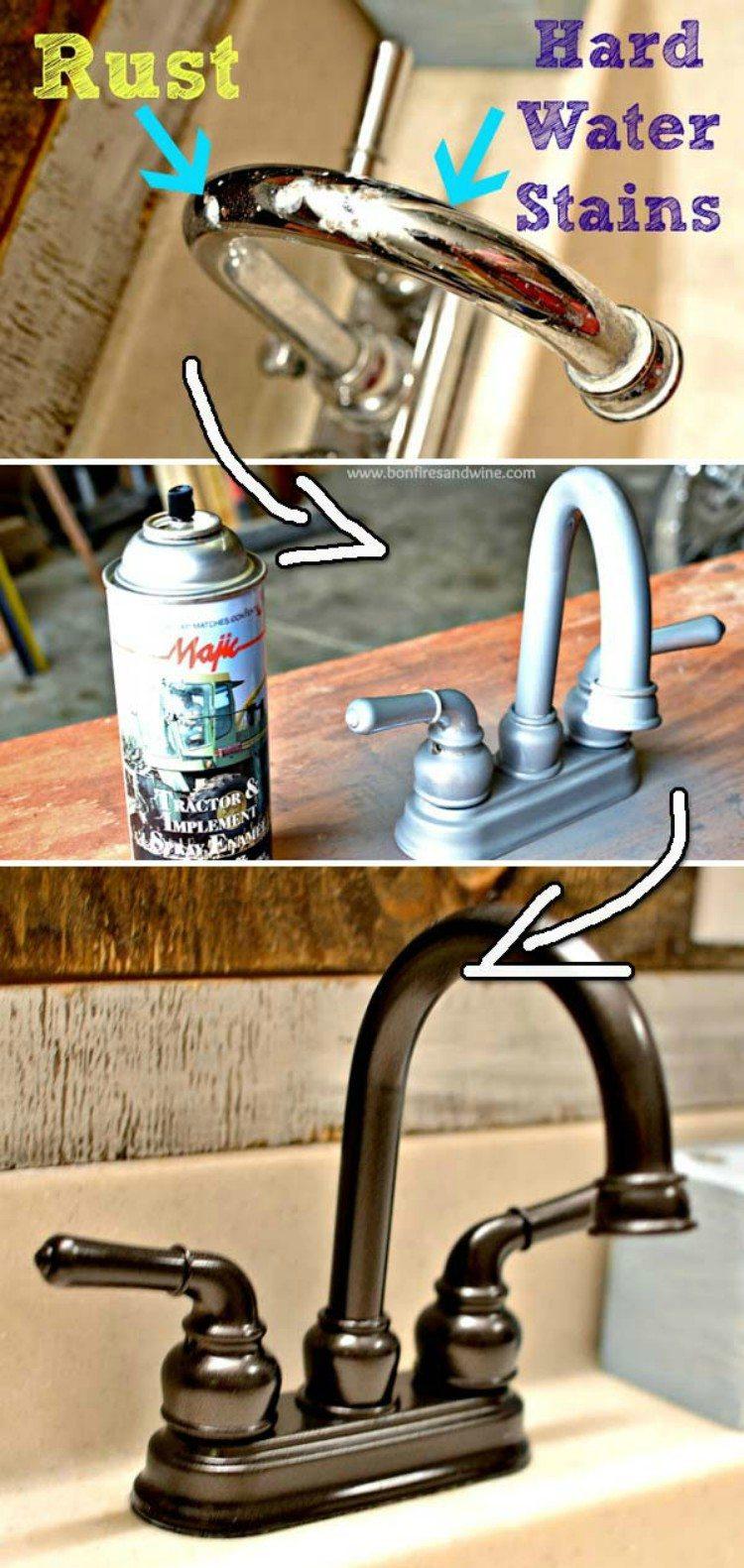 Spray Paint Faucet