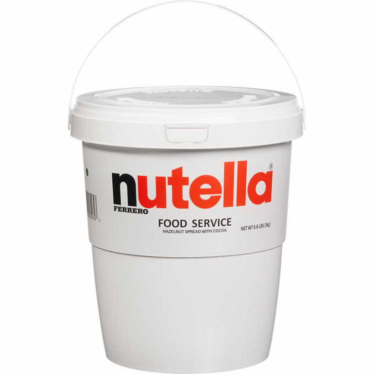 Image of 7-pound jar of nutella