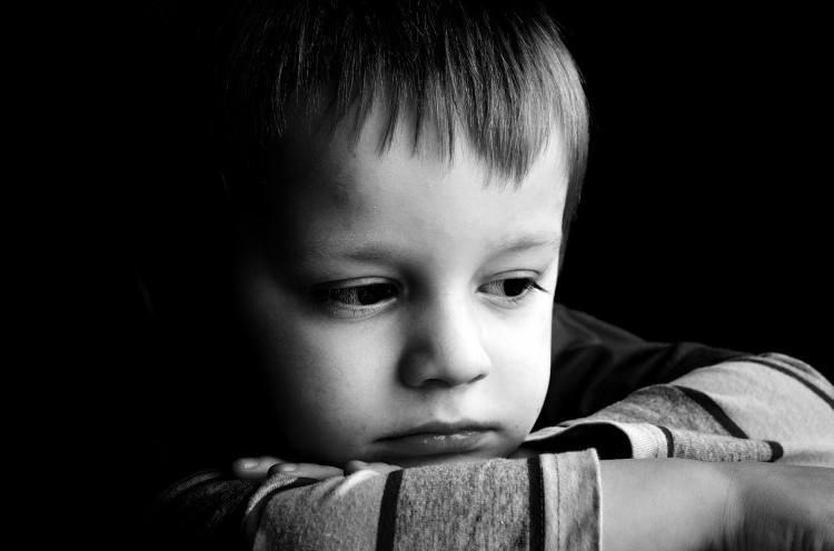 sad child portrait