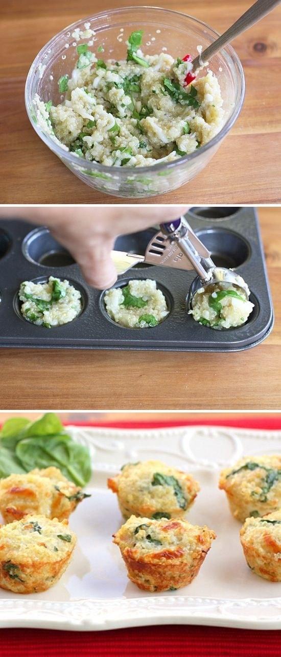 Quinoa Omlete Bites