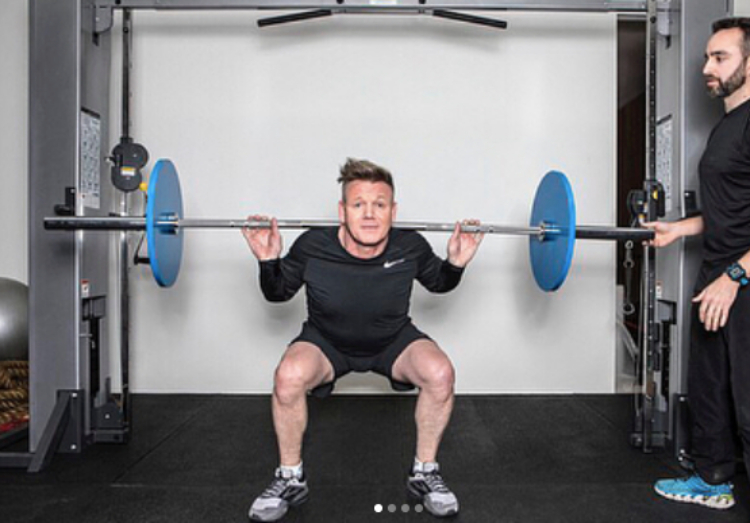 Image of gordon ramsay lifting weights