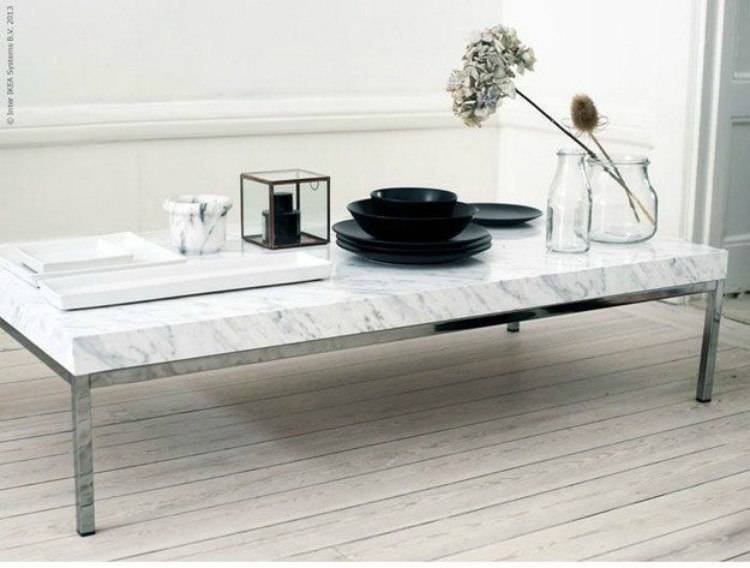 Fake marble table top.