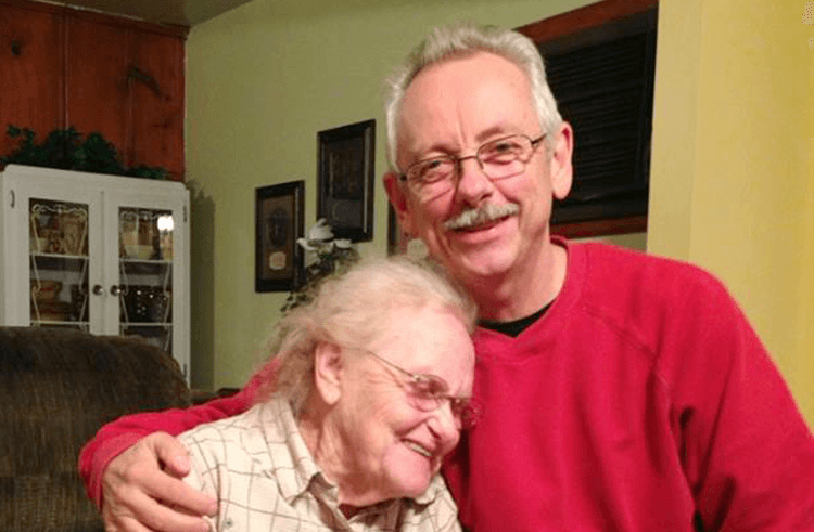 Buddy Cannon and his mother Lyndel Rhodes