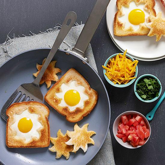Sun Shaped Eggs