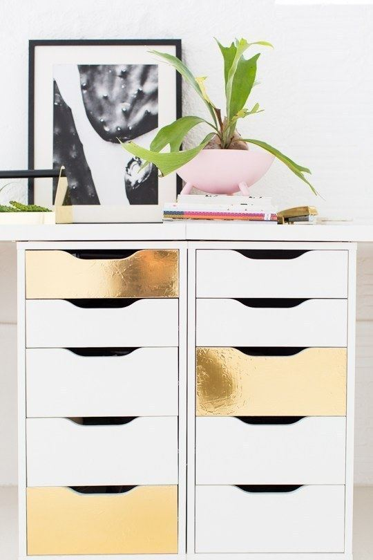 Golden drawers.