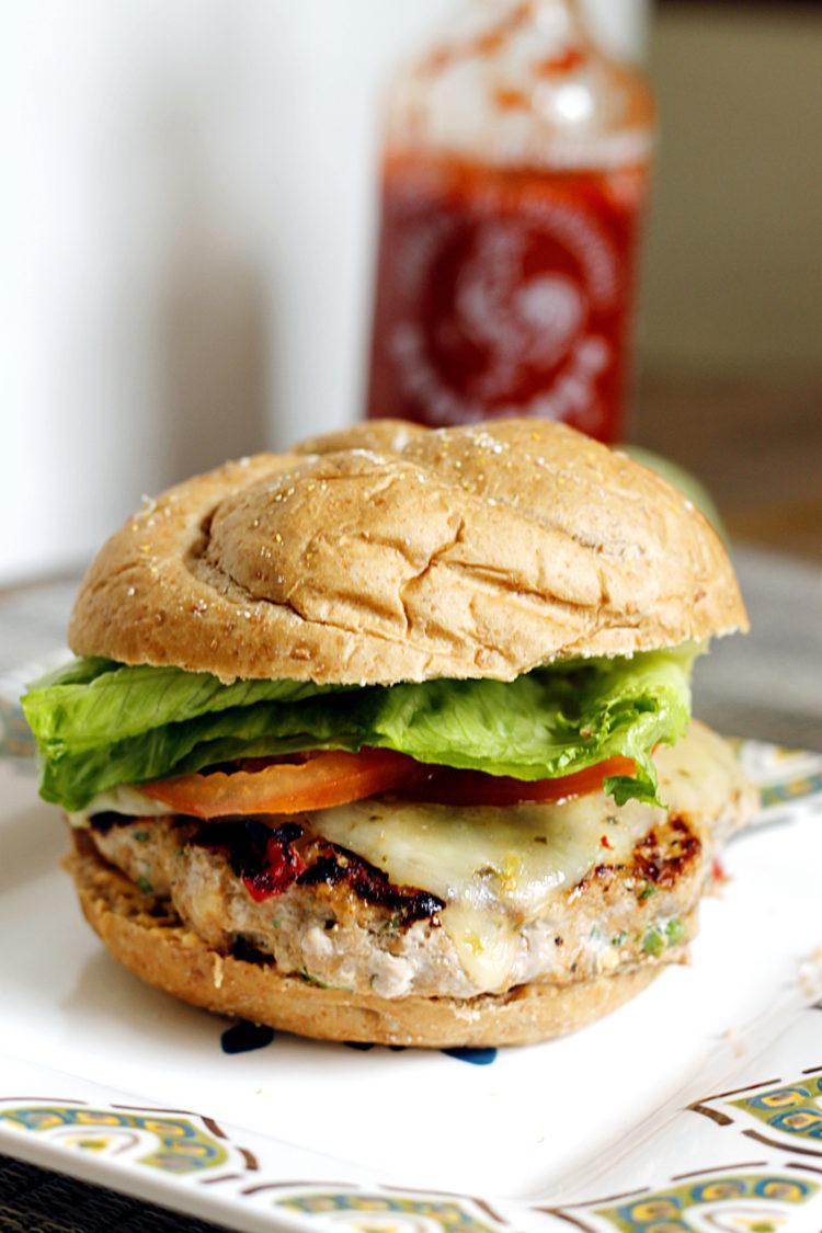 Southwestern turkey sriracha burger.