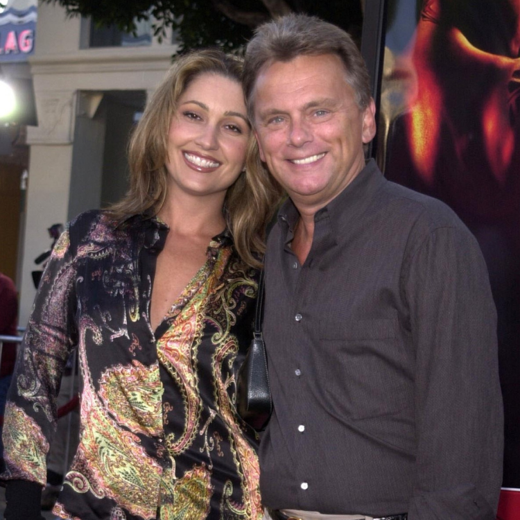 Lesly Brown and Pat Sajak