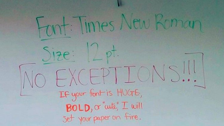cool teacher font