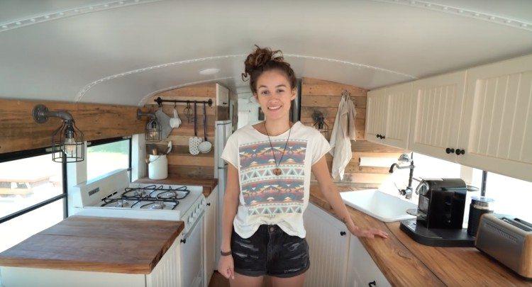 bus apartment kitchen