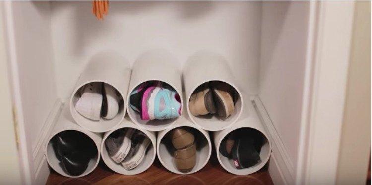 cylindrical shoe rack