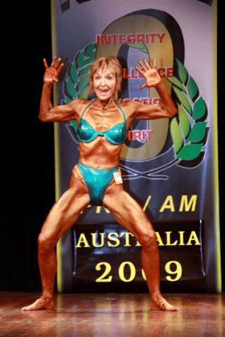 Image of Janice Lorraine, 75-year-old bodybuilder