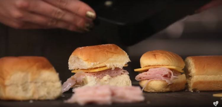 Fun little sandwich sliders for lunch.