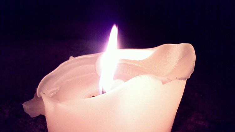 A melting candle