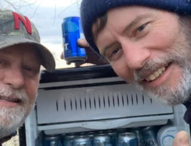 Image of men with beer