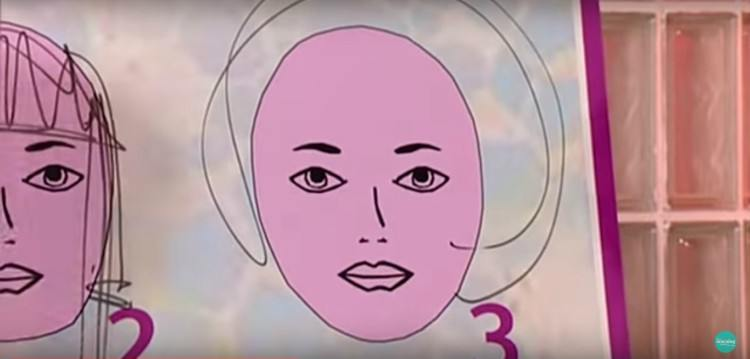Image of sketched hair don't for round faces.