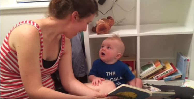Mom reads book to the Saddest Bookworm