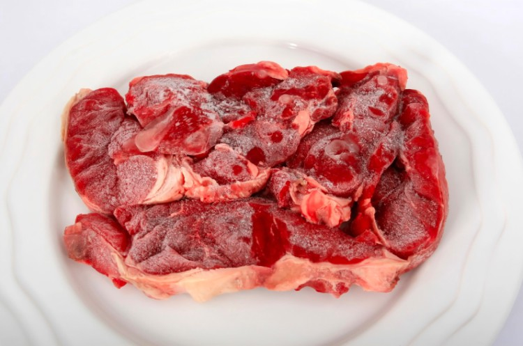 thawing thick meat
