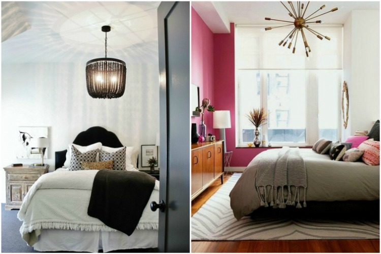 Draw eye upward with dramatic chandelier