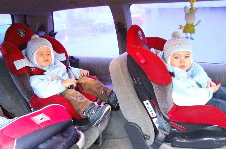Image of babies in car seats.