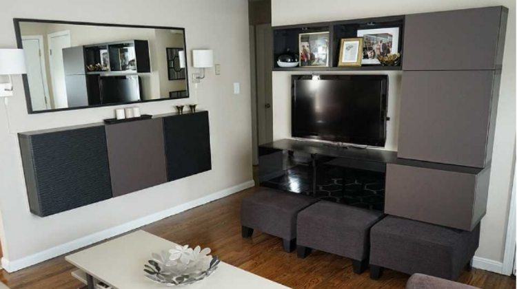 Small Living Room Makeover With TV In IKEA BESTÅ