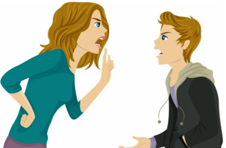 arguing teen and mom