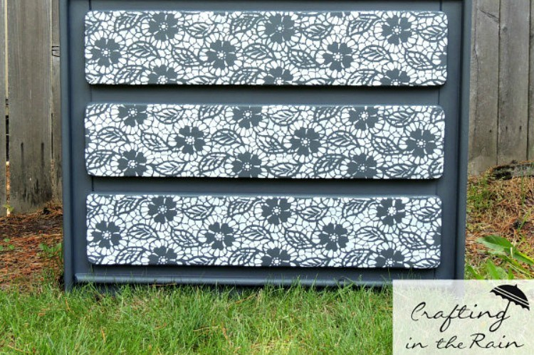 stencil lace dresser