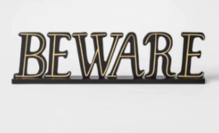 target beware sign