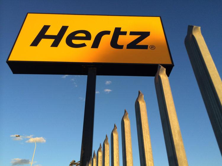 Image of Hertz store front.