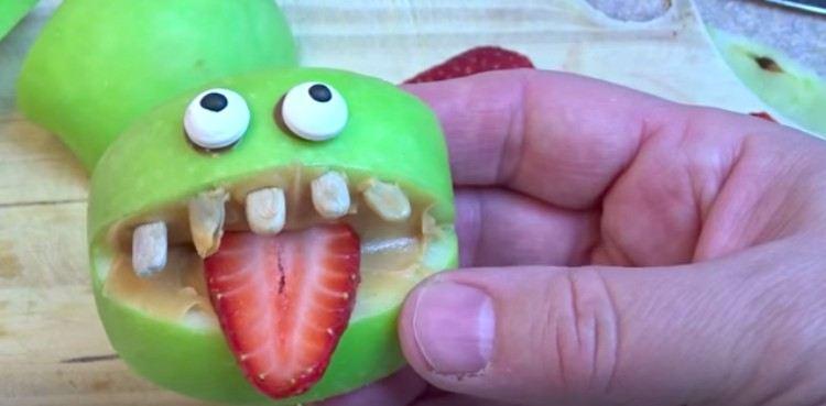 Halloween apple treat