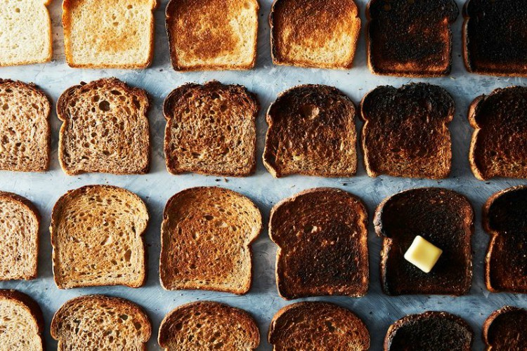 browned toast