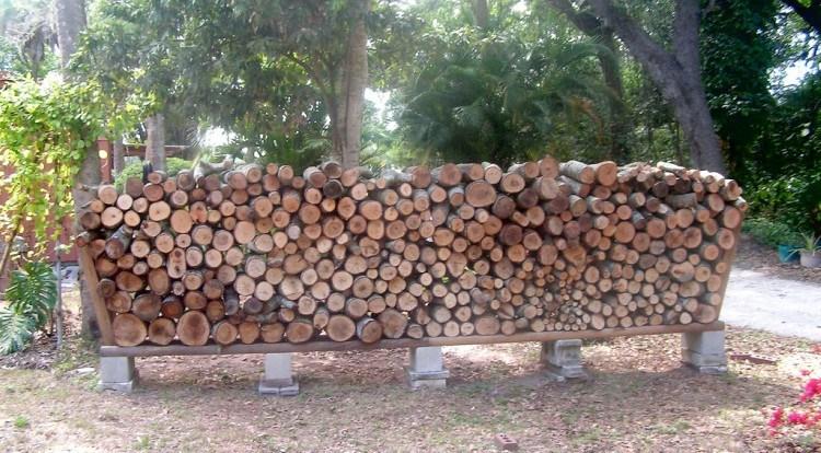 cinder block wood holder