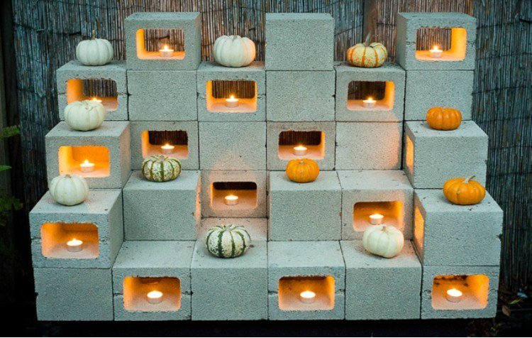 cinderblock candle