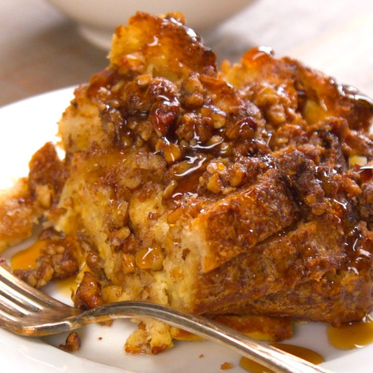 french toast bake plated