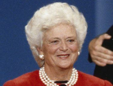 Pic of Barbara Bush.