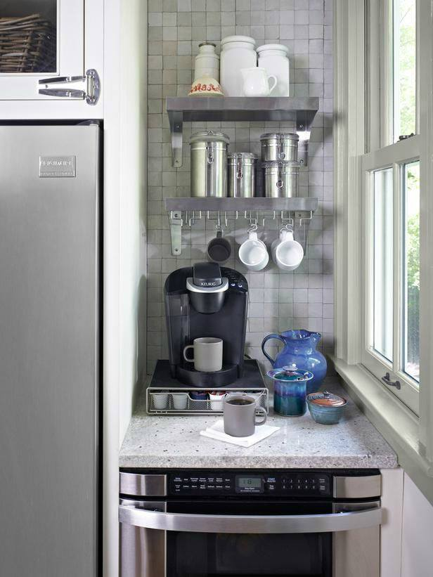 Coffee Bar In Kitchen Diy Small Spaces