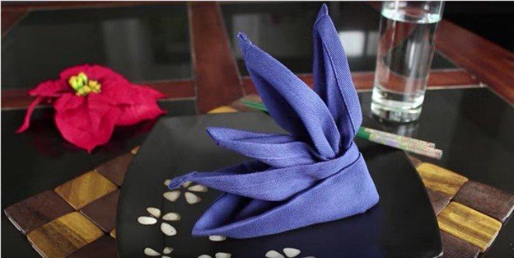 bird of paradise napkin