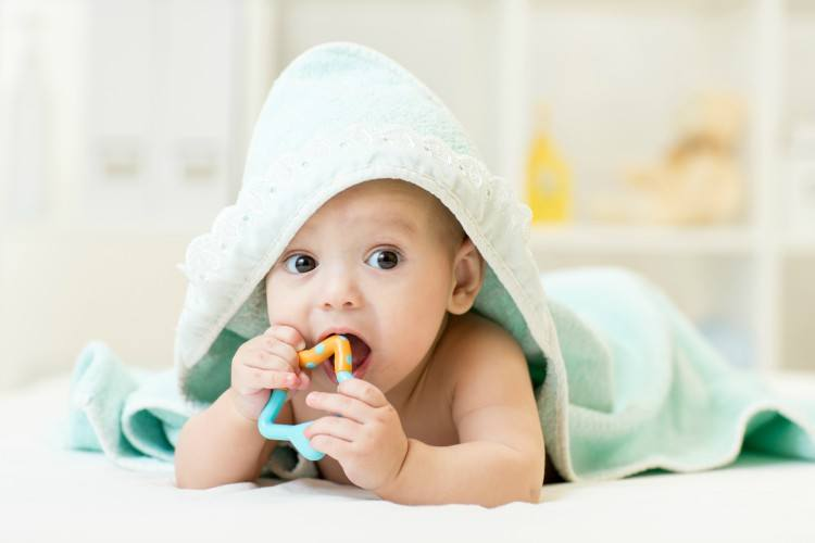 Image of baby in towel.