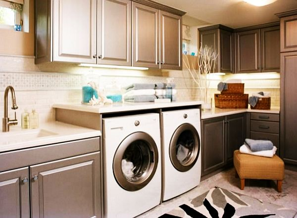 Sleek Laundry Room
