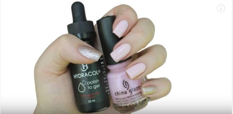 comparing hydracol and normal nail polish