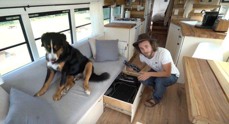 bus apartment living room