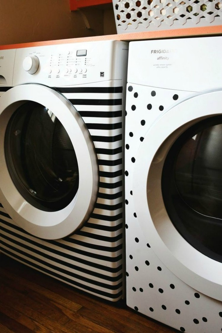 Decorated Washer and Dryer