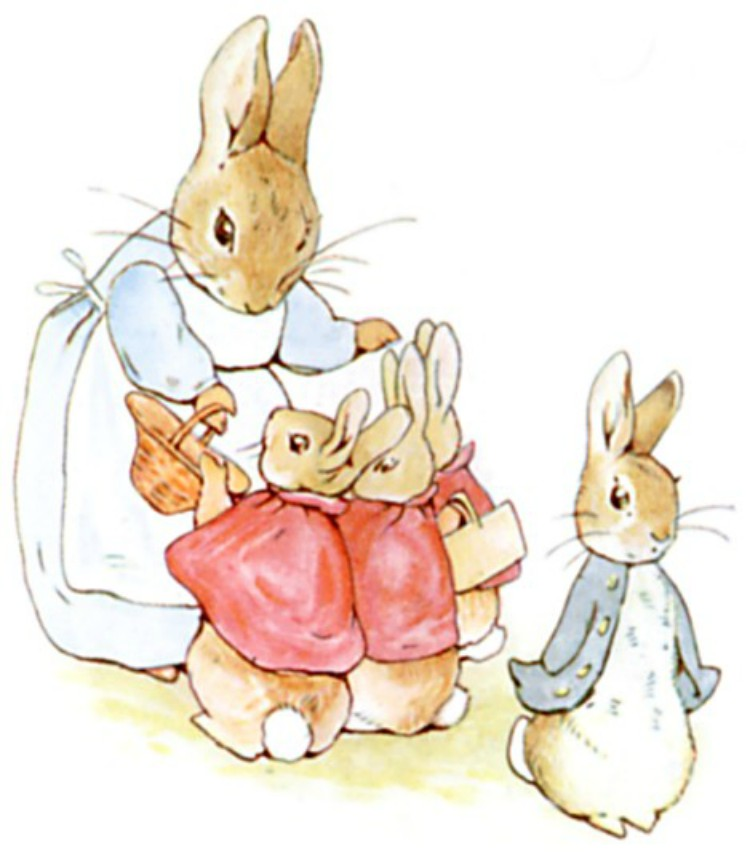 Image of Peter Rabbit from books.