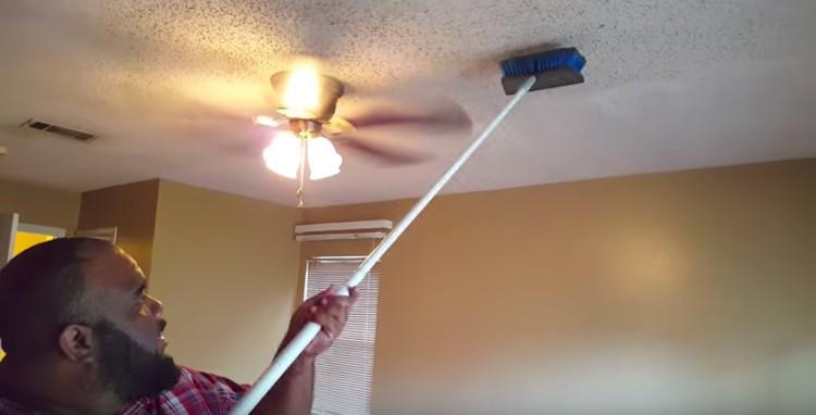 dusting popcorn ceiling