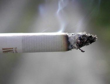 Image of lit cigarette.