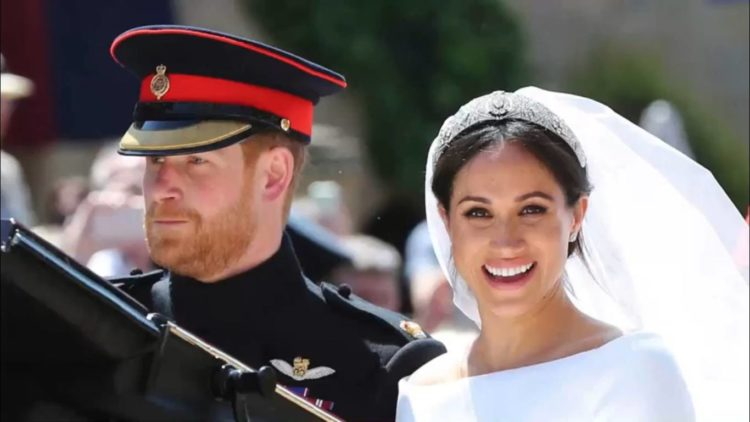 Prince Harry and Meghan on wedding day