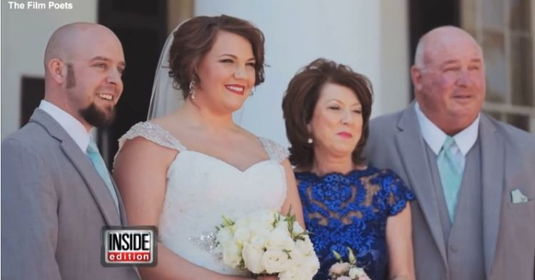 Brooke's adoptive family on her wedding day.