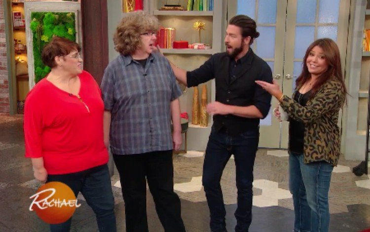 Dan, his wife, and the Rachel Ray team.
