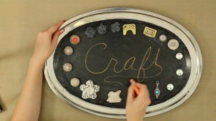 cookie tray chalkboard