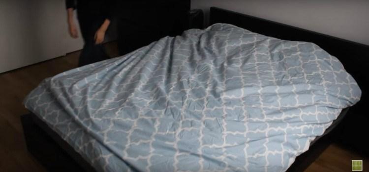 Image of duvet on bed.