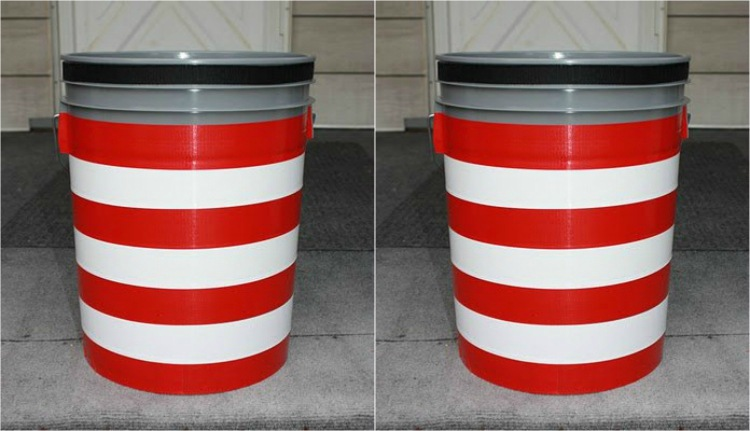 Make a portable toilet out of a bucket and kitty litter